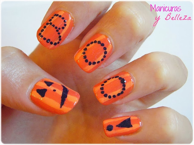 nail art manicura halloween calabazas pumpkins nails uñas decoradas diseños