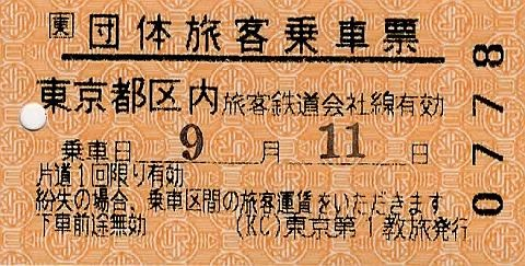 団体旅客乗車票