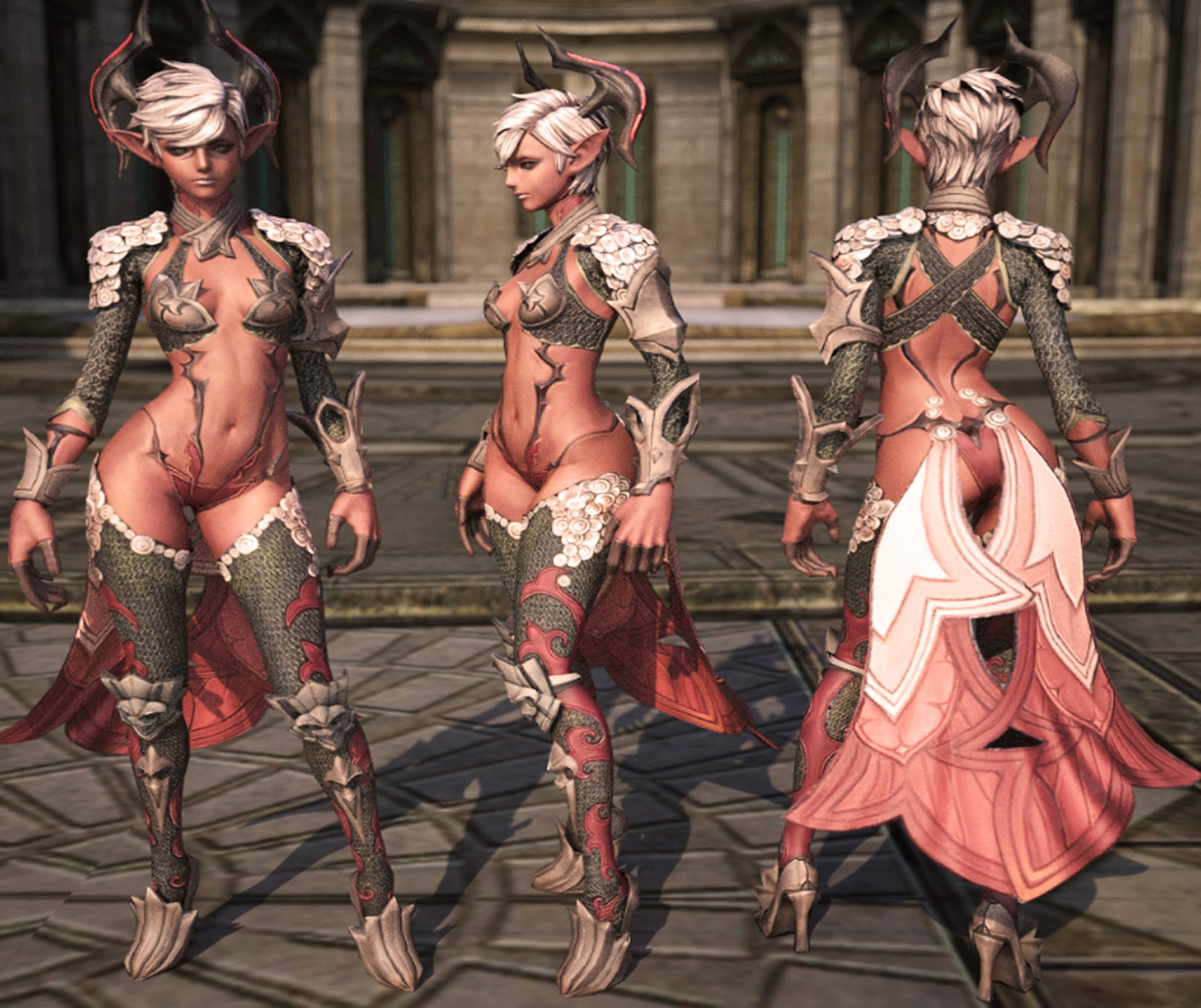 Nude lineage 2 characters in armors hentia picture
