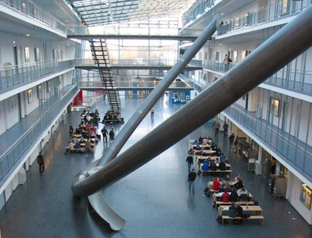 indoor slide at the university of munich