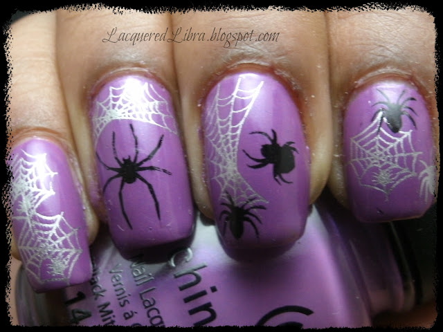 halloween-mani-nails-spider-spiderweb