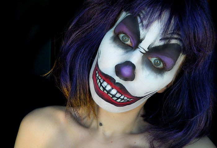 Tuto halloween clown mal fique jenni dans tous ses tats - Maquillage de clown facile ...