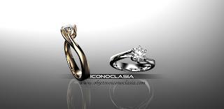 Increíble anillo de pedida en oro o platino con diamante.