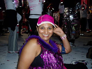 posing before the moonwalk a few years ago