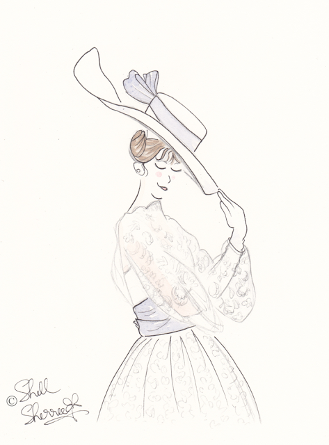 Fashion illustration : Royal Ascot and Almost-Audrey © Shell-Sherree
