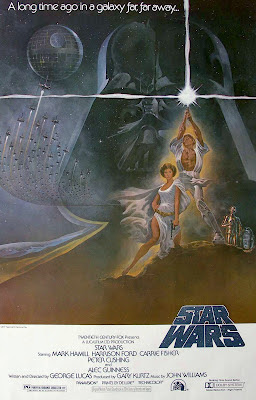 Star Wars movie poster by Tom Jung (1977)
