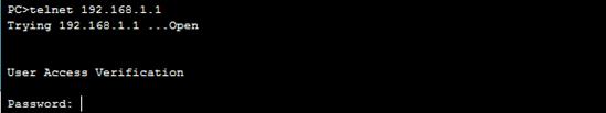 telnet to gateway - 1