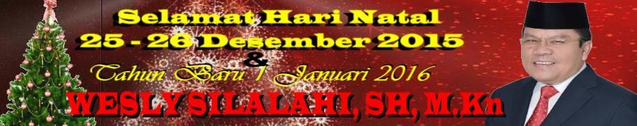 Ucapan Selamat Natal Wesly Silalahi Calon Walikota Siantar