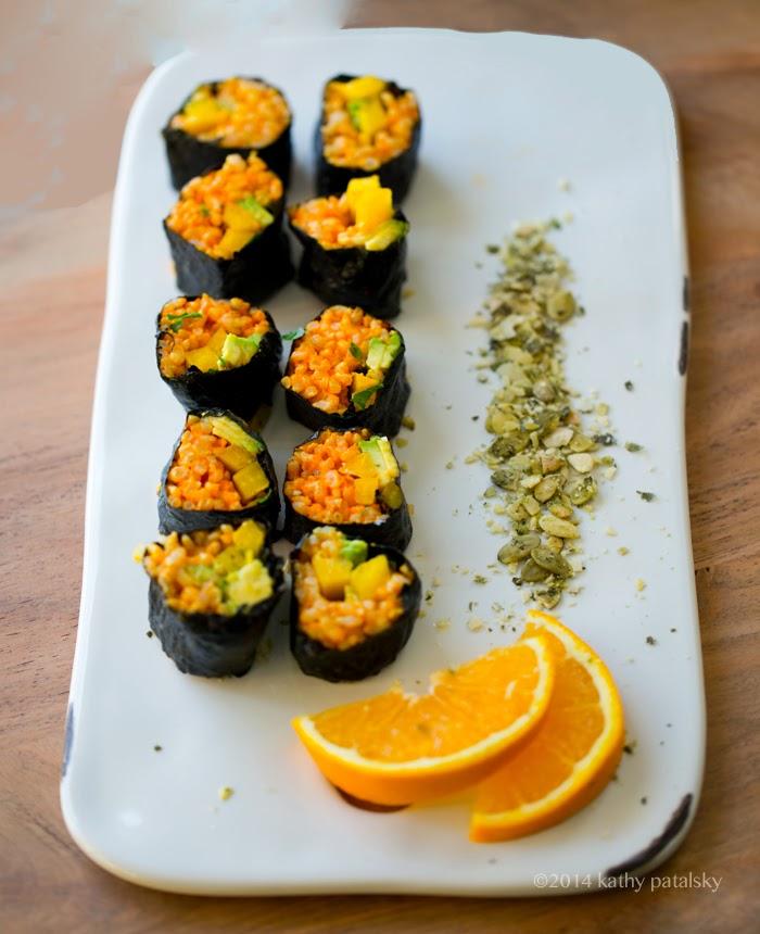 Golden Avocado Sushi Roll Creative Vegan Sushi 101