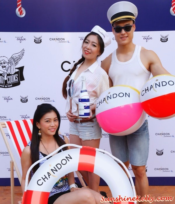 Chandon Summer Sailors, Sparkling Chandon Summer Party, Bad Boy Cooks, Brasserie Enfi, Oasis Damansara, Chandon Summer Party, limited Summer edition Chandon,