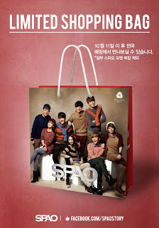 spao fx super junior shopping bag