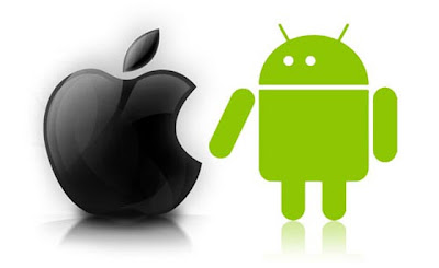 An image showing war between Android and Apple iOS