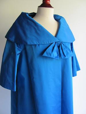 opera coat, sapphire blue