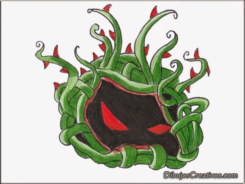 dibujos pintados TANGLE KELP PLANTAS VS ZOMBIES