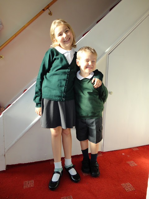 Big Boy and Top Ender in their Matalan School Uniform