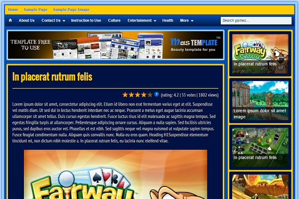 Theme Blogspot website game