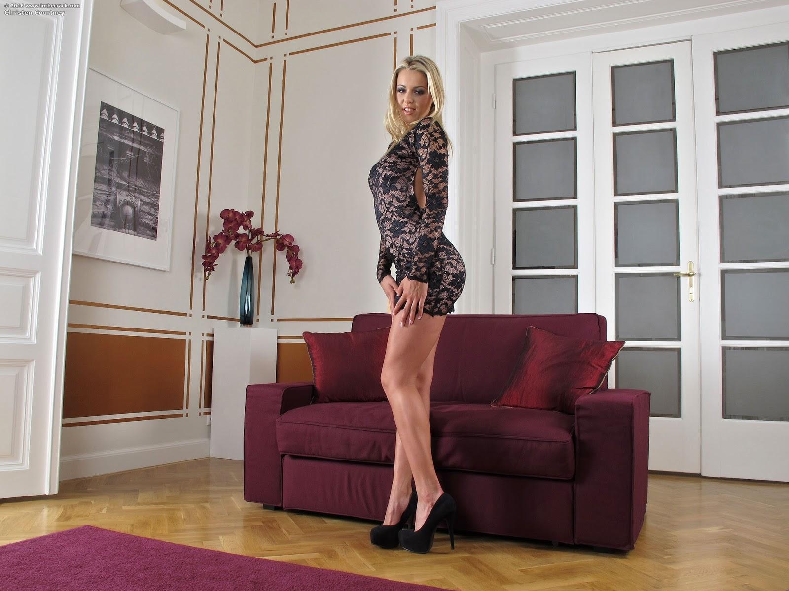 Hot blonde Christen Courtney inserting speculum into gaping anus  475173