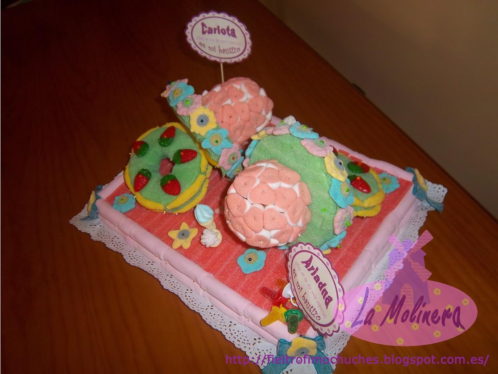La molinera tarta bautizo chupetes - Chuches para bautizo ...