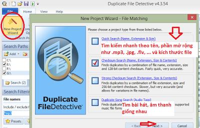 Duplicate File Detective 4.3.54 (2013) - Phần mềm tìm những tập tin giống nhau trên PC