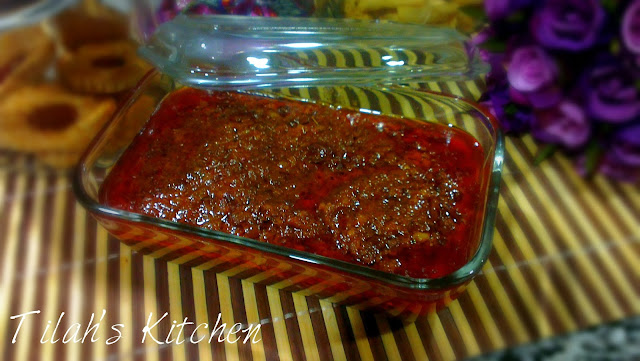 The traditional peanut gravy that goes with the traditional malay barbecued meat known as satay.  Simply delicious.