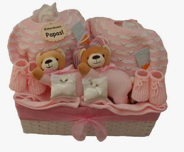 Canastillas y regalos para beb s regalos especiales para - Cestas de mimbre para bebes ...
