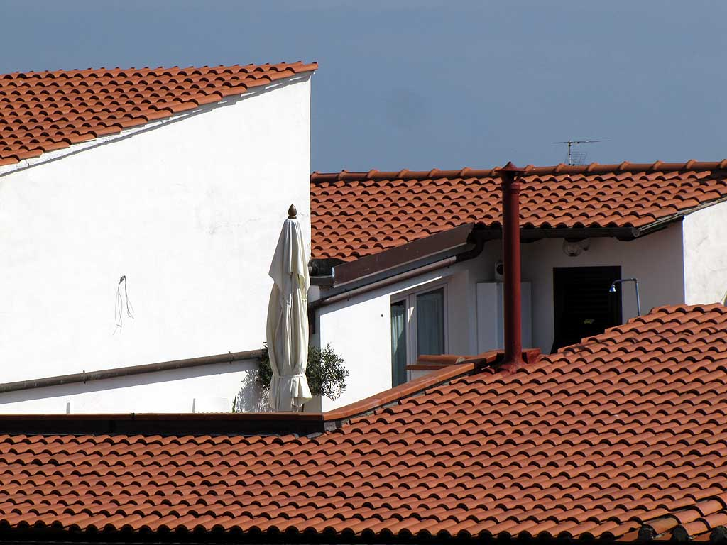 Tiled roofs and terrace, Livorno