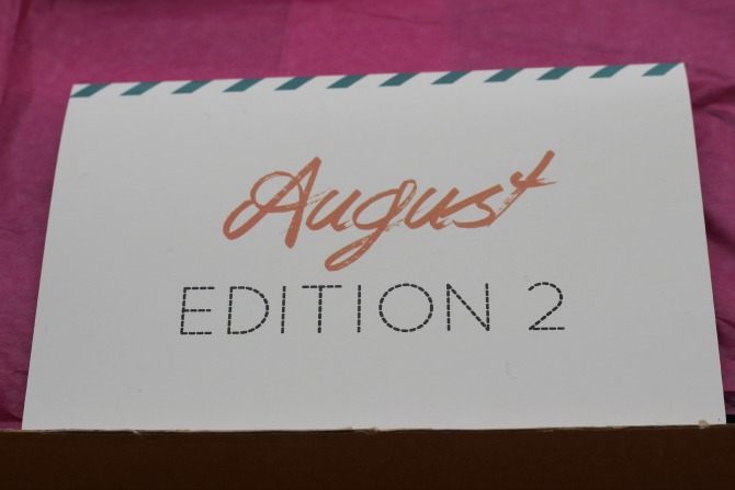 Love me beauty box August - Menu 2