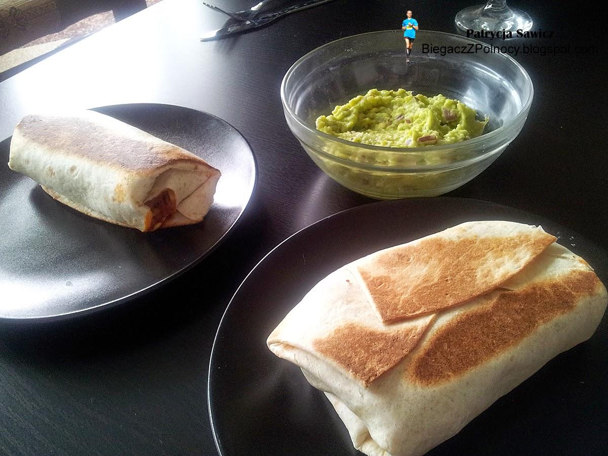 Biegacz Z Polnocy Burrito Z Meksykanskim Ryzem I Guacamole