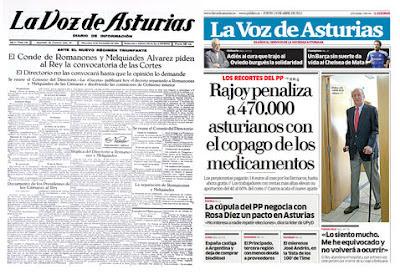 Cierra el diario La Voz de Asturias