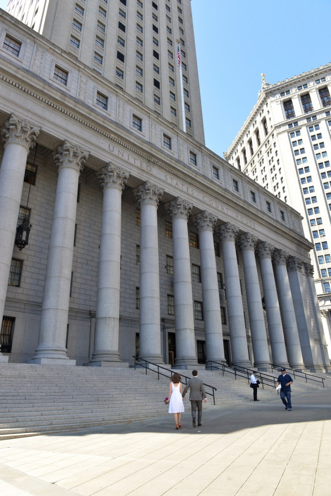 NYC Court House Wedding Photo