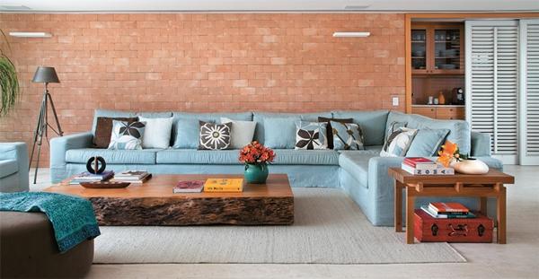 Sala De Tv Com Tapete E Almofadas ~ decoração de sala de estar com tapete