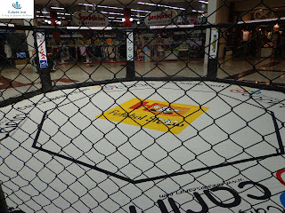 Octógono do MMA no Cariri Garden Shopping.