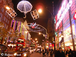 Oxford Street London at night