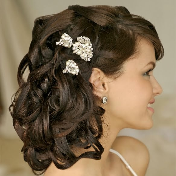 wedding hairstyles for curly hair  Haircuts Short Prom Celebrity Hair Styles by