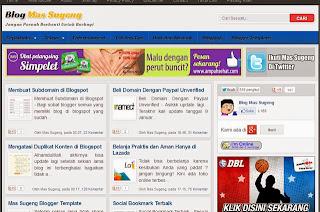Free Dowload Blogger Template Premium dari Mas Sugeng