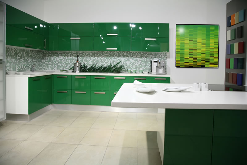 green kitchen design ideas