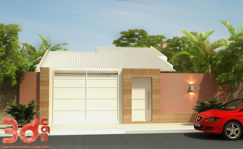 3dsign fachada casa for Fachadas de frente de casas pequenas