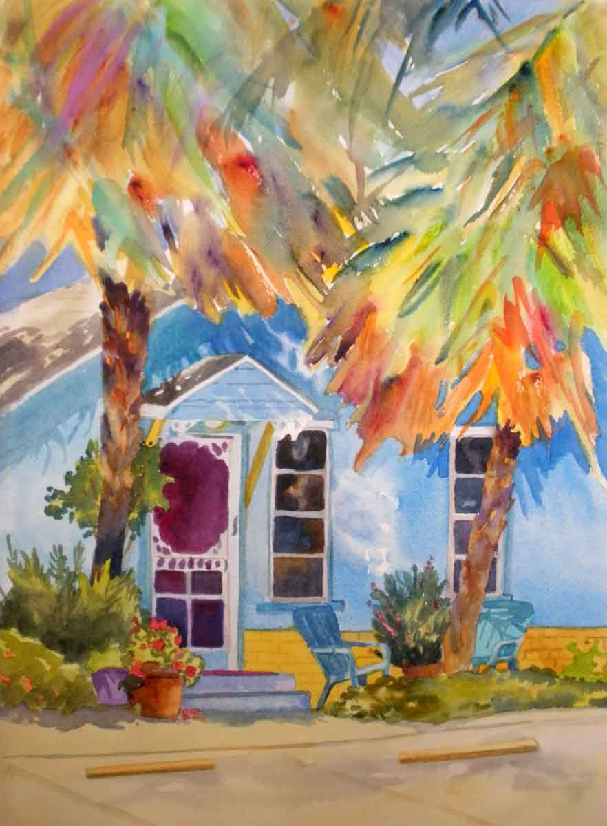 Kaysmithbrushworks beach cottage for Watercolor cottages