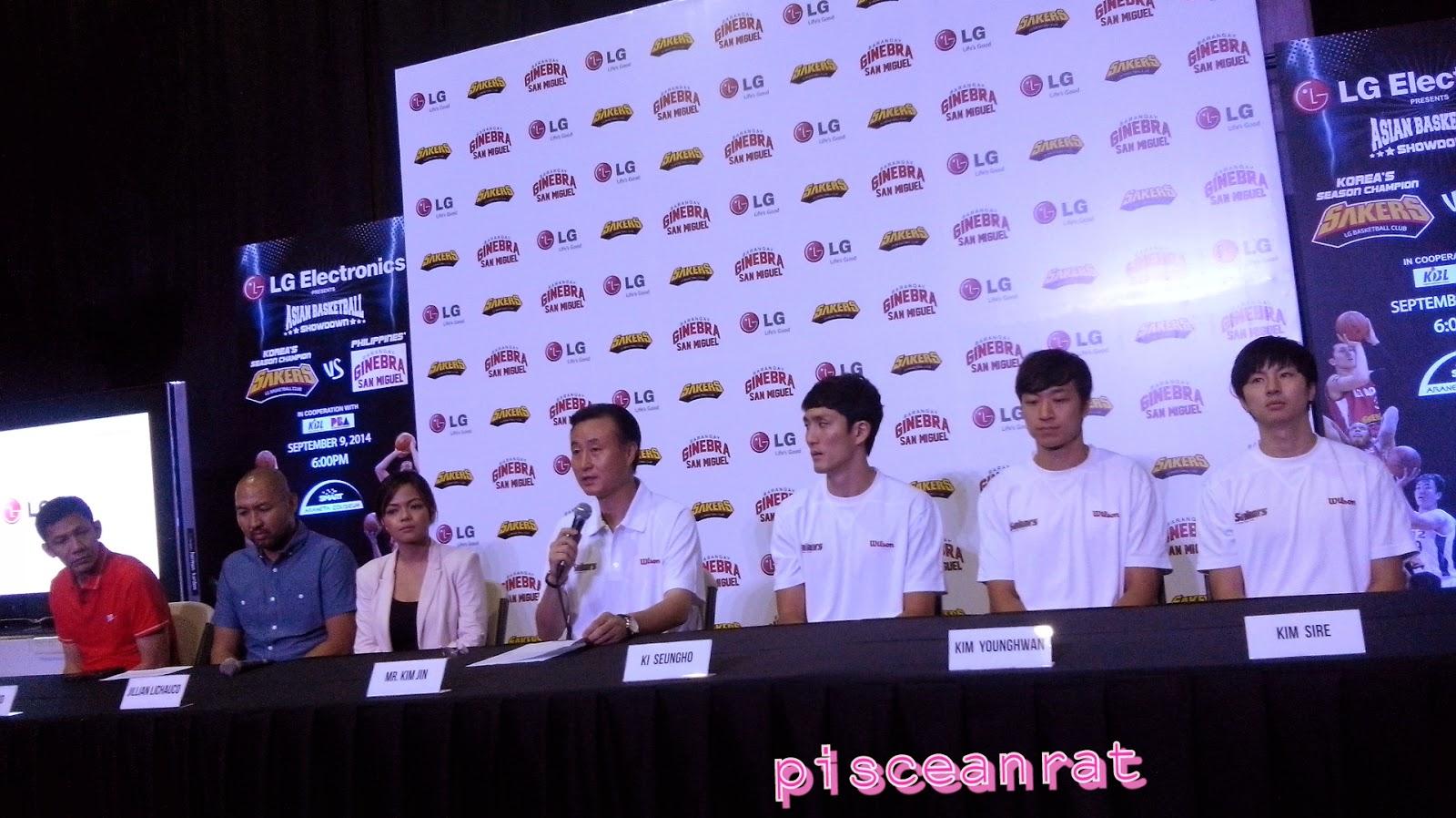 Olsen Racela, Jeff Cariaso, Jillian Lichauco, Mr. Kim Jin, Ki Seungho, Kim Younghwan, Kim Sire.