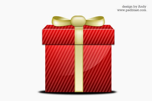 Glossy Gift Icon PSD