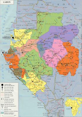 Mapa político de Gabão