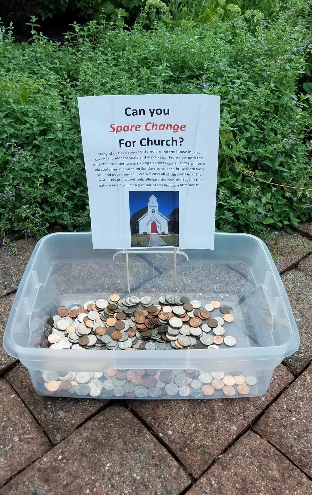 CAN YOU SPARE CHANGE FOR CHURCH?
