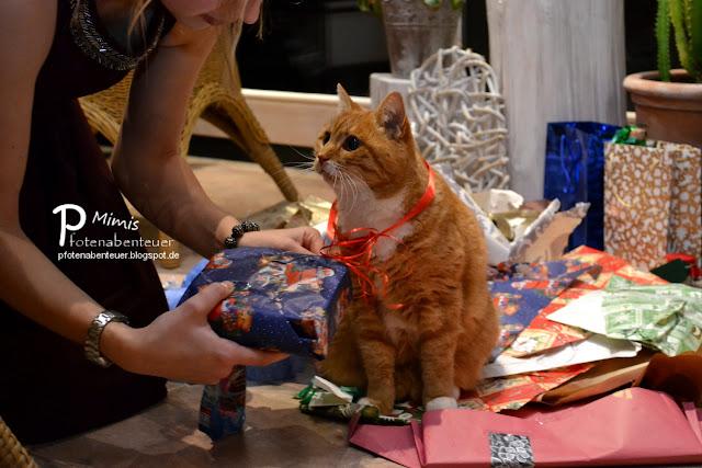 Bettyschwester packt mit Mimi das Weihnachtsgeschenk aus