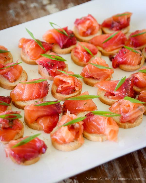 receita de gravlax de salmão