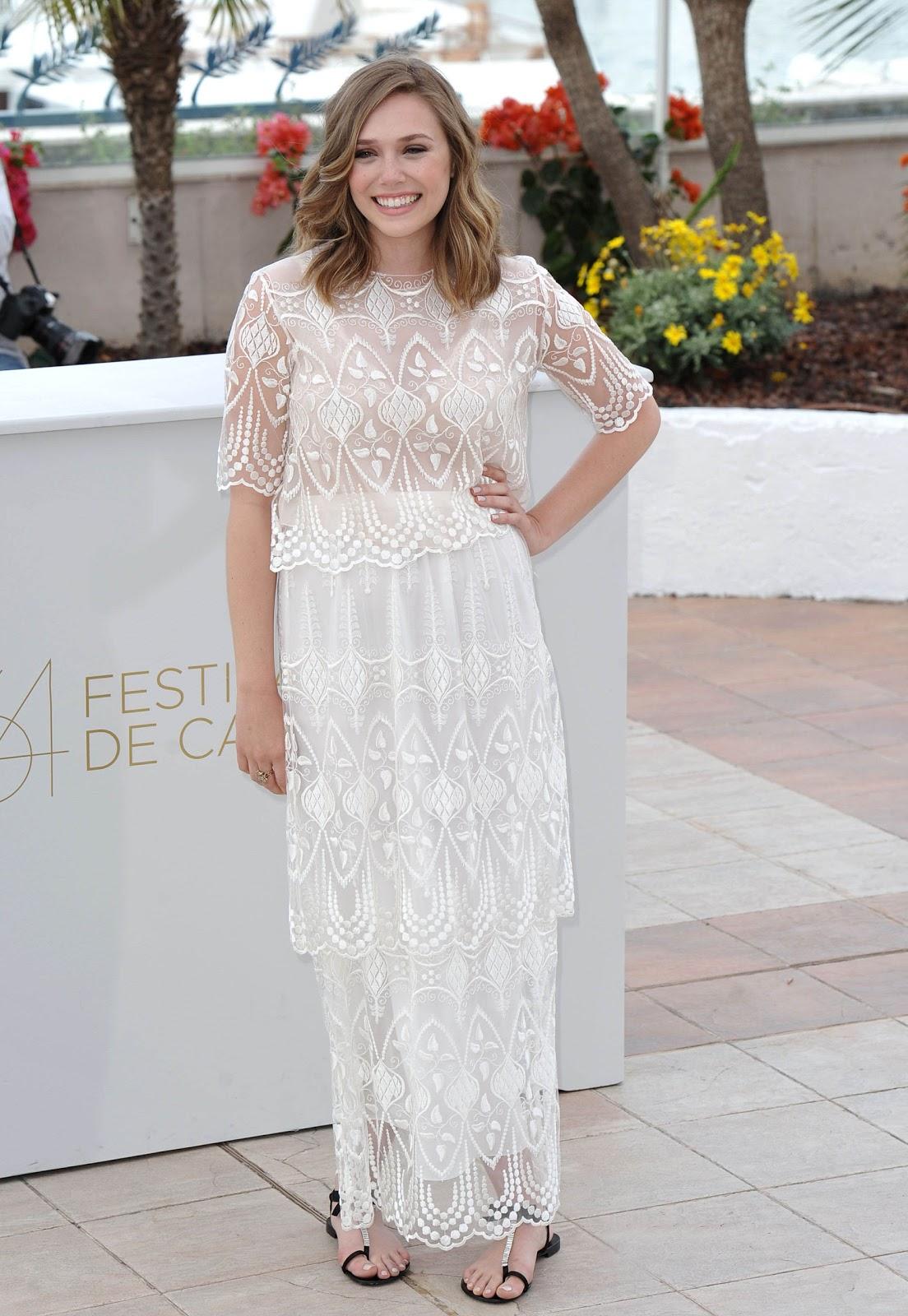Captain America Civil War actress Elizabeth Olsen at Cannes Film Festival
