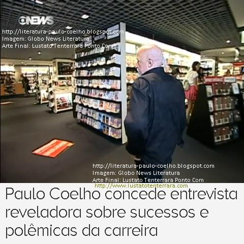 Paulo Coelho em visita a luxuosa livraria em Genebra, Suíça, durante as filmagens de sua entrevista, concedida ao Programa Globo News Literatura