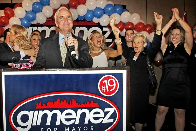 ... after defeating former Hialeah mayor Julio Robaina by a slim margin.