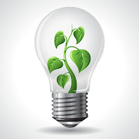 lightbulb green plant recycling