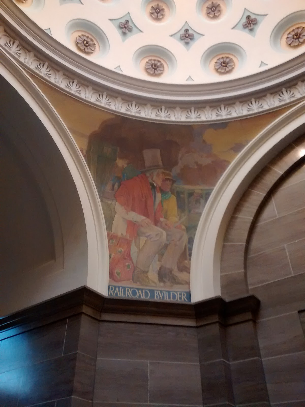 Railroad Builder Mural at Jefferson City Capital Building
