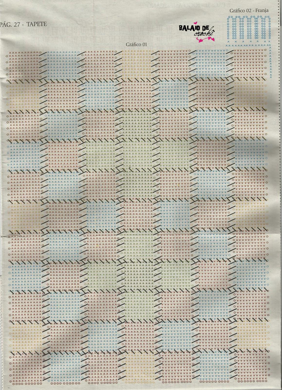 Tapete de crochê estilo patchwork